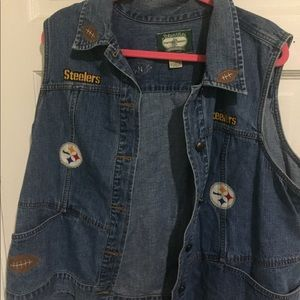 Women's St Johns Bay Denim Steelers Vest